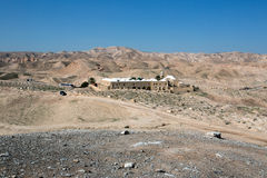 Nabi Musa site in the desert. Nabi Musa site in the Judean desert , Israel Royalty Free Stock Photo
