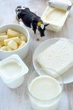 nabiału odosobnienia produkty biały Fotografia Stock