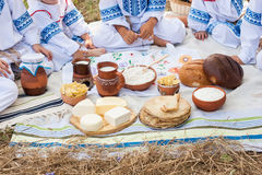 nabiały zgłaszają drewnianego jedzenie wiejski Obrazy Royalty Free