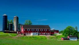 Nabiału gospodarstwo rolne w Zachodnim Pennsylwania Fotografia Royalty Free