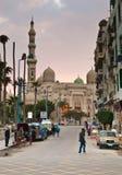 In nabijheid van de moskee van Abu Gr-Abbas Gr-Mursi Stock Foto