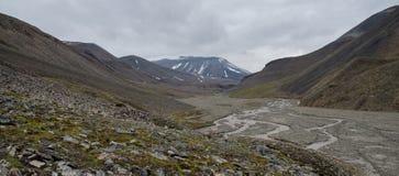 Nabijheid van Longyearbyen Spitsbergen, Svalbard, Noorwegen royalty-vrije stock fotografie