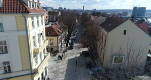 Nabijheid van St Michael Cathedral, Belgrado, luchtmening stock footage
