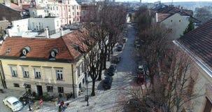 Nabijheid van St Michael Cathedral, Belgrado, luchtmening stock video