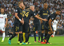 Nabil Dirar. Football players pictured during the 2016/17 UEFA Champions League Group E game between Tottenham Hotspur and AS Monaco on September 14, 2016 at Stock Image