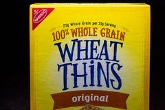 Nabisco Wheat Thins and Trademark Logo stock photos