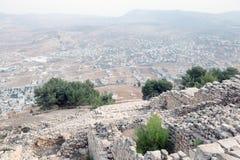 Nablus. Shechem (Nablus). View overlooking from mount Gerezim Royalty Free Stock Photos