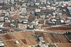 Nablus. Shechem (Nablus). View overlooking from mount Gerezim Royalty Free Stock Image