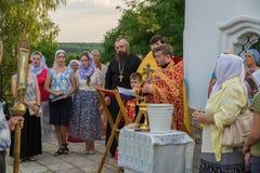 Nabożeństwo modlitewne przy kościół St John Evang Obraz Royalty Free
