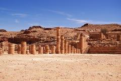 Nabotean city of Petra Stock Photo