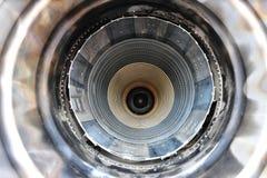 Nabrander van F5 vechtersstraal stock fotografie