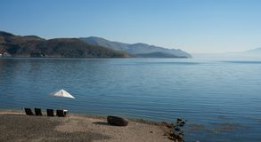Nabrzeżna sceneria erhai jezioro zdjęcie stock