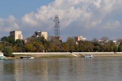 Nabrzeża duży miasto Calarasi zdjęcia royalty free