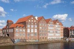 Nabrzeże budynki w Bremen, Niemcy Obraz Royalty Free