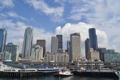 Nabrzeże i linia horyzontu, Seattle, Waszyngton Fotografia Stock