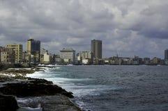 Nabrzeże miasto Hawański zdjęcie stock
