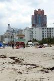 Nabrzeże na południe plaży w Miami obraz stock