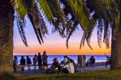 Nabrzeże park, Montevideo, Urugwaj zdjęcia royalty free