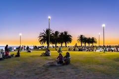 Nabrzeże park, Montevideo, Urugwaj zdjęcie stock
