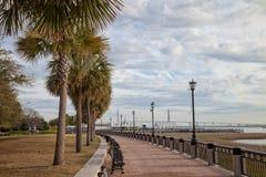 Nabrzeże park w Charleston, Południowa Karolina obraz royalty free
