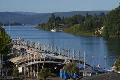 Nabrzeże Valdivia w Południowym Chile obrazy stock