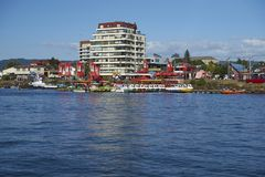 Nabrzeże Valdivia w Południowym Chile zdjęcie royalty free