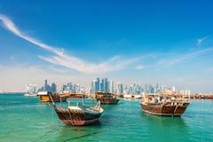 Nabrzeże w Doha obraz royalty free