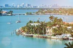 Nabrzeże w Miami mieście zdjęcie royalty free