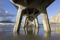 Nabrzeże w Tolaga zatoce w Nowa Zelandia obrazy stock