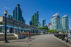 Nabrzeże w Vancouver, kolumbiowie brytyjska Zdjęcie Stock