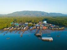 Nabrzeże wioska przy zakazem Sam Chong Tai obraz stock