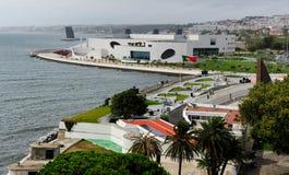 Nabrzeże z wierzchu Torre de Belem, Lisbon, Portugalia Zdjęcia Stock