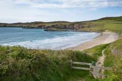 Nabrzeżna ścieżki Pembrokeshire Whitesands zatoka Zdjęcia Royalty Free
