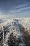 Nabrzeżna śnieżna scena Obrazy Stock