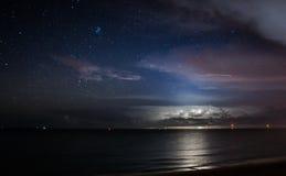 Nabrzeżna Błyskawicowa burza Obraz Royalty Free