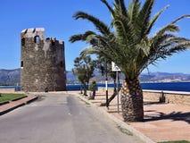 Nabrzeżna kolumnada w Południowym Sardinia, Włochy obrazy stock