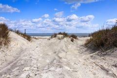 Nabrzeżna Plażowa scena Zdjęcie Royalty Free