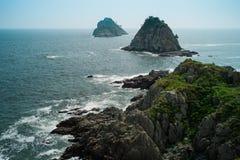 Nabrzeżna wyspa przy Busan, Korea obrazy stock