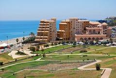Nabrzeżne hotel, Fuengirola zdjęcia stock