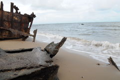nabrzeżne ośniedziały shipwreck Fotografia Stock