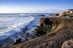 nabrzeżny California zmierzch zdjęcia stock