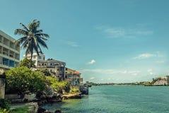 Nabrzeżny części pf Mombasa miasteczko, Kenja Obraz Royalty Free
