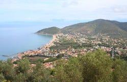 nabrzeżny equense krajobrazu mety Sorrento vico Obrazy Royalty Free