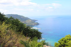 nabrzeżny equense krajobrazu mety Sorrento vico Zdjęcia Stock