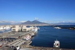 Nabrzeżny krajobraz Napoli Fotografia Stock