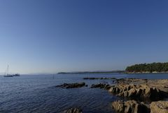 Nabrzeżny krajobraz południe Francja Zdjęcie Stock