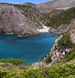 Nabrzeżny krajobraz z góry dwa plażami błękitny morze Fotografia Royalty Free