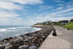 Nabrzeżny przejście, deptak w Nowym Plymouth, Nowa Zelandia zdjęcie royalty free