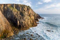 Nabrzeżny spacer, ziemi końcówka, Cornwall fotografia stock