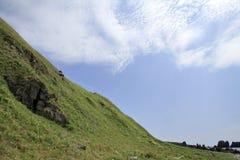 Nabrzeżny taras przy przylądkiem Nyudozaki zdjęcia stock